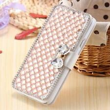 Luxury Bling Rhinestone Diamond Leather Cards Case Flip Wallet Phone Case Cover