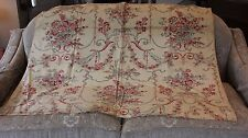 French Vintage c1930s Home Fabric Textile~Baskets, Roses,Scrolls,Cherubs