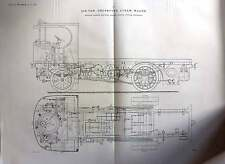 1922 Six Ton Under Type Steam Wagon Garrett Suffolk Plans
