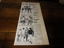 OLYMPIC - BOXER-SHORT - Publicité de presse / Press advert !!! 1962 !!!