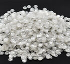 800 SILVER PLATE FLOWER BEAD CAPS 8.5mm JEWELLERY MAKING BEADING FINDINGS (75A)