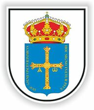 1x STICKER Escudo de Asturias SPAIN COAT OF ARMS decal
