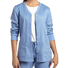 White Cross Allure Scrubs Long sleeve Jacket Women's Button Front Shirts 949 Top