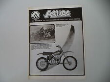 advertising Pubblicità 1976 MOTO ASPES CRS 125 CROSS e CORRADO MADDII