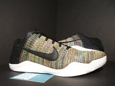 Nike Zoom KOBE XI ELITE LOW FLYKNIT ID MULTICOLOR BLACK WHITE 903710-993 NEW 9.5