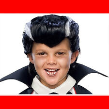 Boys Vampire Costume Wig Count Dracula Child Halloween Scary Hair Accessory