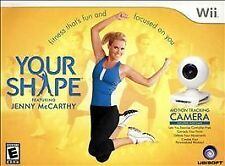NEW Get Fit! Your Shape Wii Game Plus Camera Jenny McCarthy