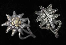 WWII German Officer Edelweiss Mountain Metal Cap Badge Insignia-GM043