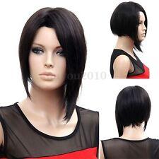 Perruque Cheveux Court Raide Droite Bob Noir Hétéro Cosplay Costume Femme Wig