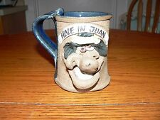 """Hole in Juan"" Funny Stoneware Coffee Face Mug~Golf Humor"