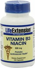 Vitamin B3 Niacin, Life Extension, 100 capsule 500 mg