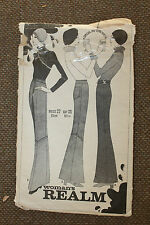 Woman's Realm Sewing Pattern Misses Trousers Size Waist 27 Hip 38