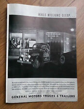 1937 GMC General Motors Trucks Trailers Ad Eastern Michigan Trucking