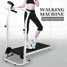 Folding Portable Incline Manual Treadmill Walking Running Fitness Gym Machine BN