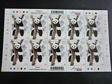 Singapore Giant Pandas Stamp Sheet 65c x 10 stamps 2012
