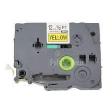 1pk Black on Yellow Label Tape Compatible for Brother PTouch TZ TZe S631 12mm