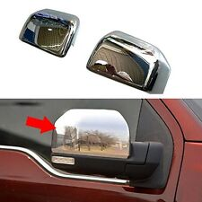 ABS Chrome Rear View Mirror Cap Cover Trim For Ford F150 F-150 2015 2016 2017