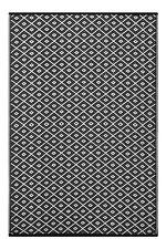 New Large Quality Arabian Outdoor Black and White Plastic Rug 6x9ft (180x270 cm)