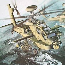 AH-64D Apache Longbow Plastic Model Kit Attack Helicopter Set Hapdong 1/35 Scale