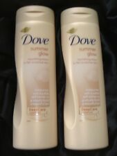 DOVE Summer Glow GRADUAL SELF TAN Body Lotion FAIR to MEDIUM x 2