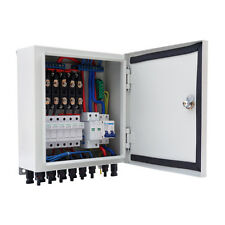 6-String Solar PV Combiner Box W/  Circuit Breakers & Surge Lightning Protection