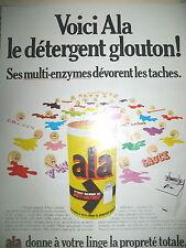 PUBLICITE DE PRESSE ALA LE DETERGENT GLOUTON LESSIVE FRENCH AD 1969