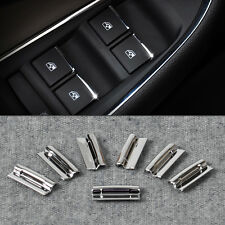 New 7 Pcs Chrome Door Window Switch Lift Button Cover For Chevrolet Cruze Malibu
