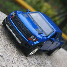 Ford F-150 SVT Raptor 1:32 Car Model Alloy Diecast Sound&LightPickup Gifts Blue