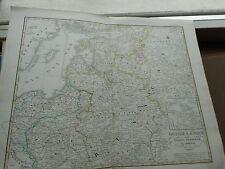 Ostsee-Länder und Inneres Russland bis Moskau, 1850 Gotha Perthes ungebunden