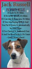 pr JACK RUSSELL TERRIER DOG SIGN - PROPERTY RULES