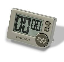 Salter Big Button Timer Electronic Digital 397 SVXR Large Black Silver Contour
