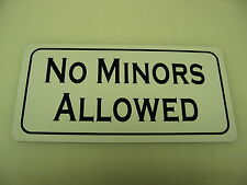 NO MINORS ALLOWED Metal Sign 4 Golf Course Country Club BAR Casino Garage Shop