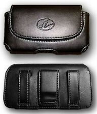 Leather Case Pouch Holster Belt Clip For Consumer Cellular Motorola WX345, W385