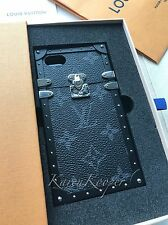 AUTH LOUIS VUITTON MONOGRAM ECLIPSE PETITE MALLE EYE TRUNK IPHONE 7 BLACK CASE