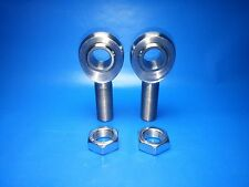 "3/4""-16 x 3/4"" Bore Chromoly Panhard Bar Rod End Kit, w/ Jam Nuts,  Heim Joints"