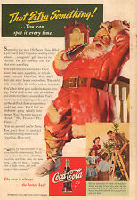 Coke Coca Cola Christmas Santa Claus Advertisement Ad 1942 Vintage Print Matted