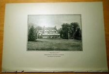 Antique Print 1886 RESIDENCE OF GEORGE D.MORGAN Irvington-on-Hudson, New York NY