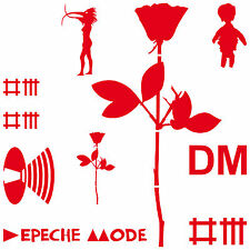 Set red Depeche Mode Sticker Tattoo Car Decor Film Rose Bird woman Mr Feather
