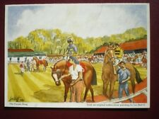 POSTCARD THE PARADE RING W/COLOUR BY LES BOTT