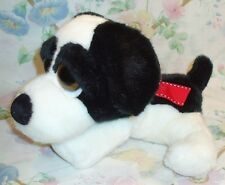 RUSS LIL PEEPERS PLUSH STUFFED BEAN BAG BLACK WHITE DOG BIG EYES MARSHMALLOW EUC