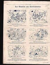 WWI Caricature Guerre/Map Carte Germany Poland Russia Prussia 1915 ILLUSTRATION