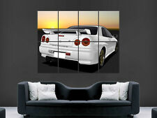 NISSAN SKYLINE R34 CAR POSTER SPEED RACING SPORT ART PICTURE PRINT LARGE