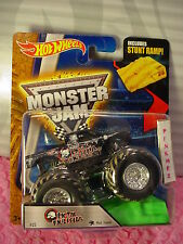 2016 MONSTER JAM Hot Wheels METAL MULISHA Mud Treads #25☆Black☆☆w/ Stunt Ramp