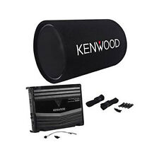 "New Kenwood P-W130TB 12"" 1200 Watt Bass Tube Subwoofer + 2-Channel Amplifier Amp"