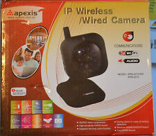 Apexis Wireless/Wired IP/Network Camera  (APM-J012-WS) Black