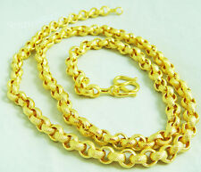 "Chain 22K 23K 24K THAI BAHT YELLOW GOLD GP NECKLACE 24"" Jewelry N 91"