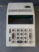 Ancienne calculatrice électronique SANYO, bureautique vintage french antique old