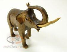 Tier-Figur indischer Elefant Holz Handarbeit geschnitzt Höhe ca. 12 cm