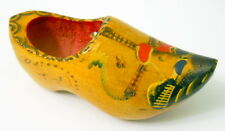 Wooden Dutch Shoe Made In Holland Windmill Scenic Fence Hand Painted Vintage