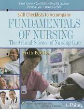 Fundamentals of Nursing Skills Checklists : The Art and Science of Nursing...